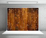 Brown Wood Wall Photography Backdrop for Christmas