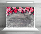 Christmas gift photography background snowflake wooden wall background