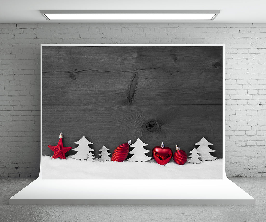 Dark Wood Wall Photography Backdrop Christmas Background