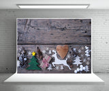 Christmas Wood Wall Photography Backdrop Xmas Background