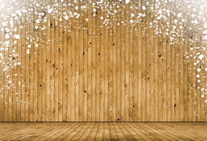 Snowflake brown wooden wall photography background