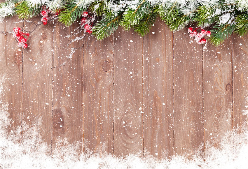 Snowflake Wood Wall Photography Backdrop Christmas Decor Background