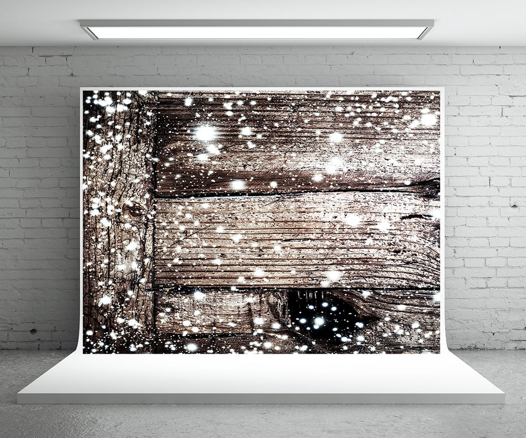 Snowflake Wood Wall Backdrop For Photography