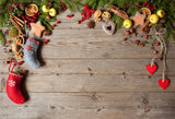 Christmas Backdrop for Photography Wood Wall Background