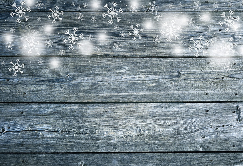 Christmas clear snowflake wooden wall photography background