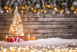 Christmas Photography Backdrop Wood Wall Background