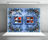 Blue Wood Wall Photography Backdrop Christmas Background
