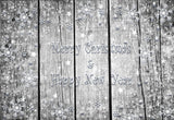 Snowflake Grey Wood Board Photo Backdrop for Christmas
