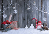 Snowman Wood Wall Photography Backdrop Christmas Background
