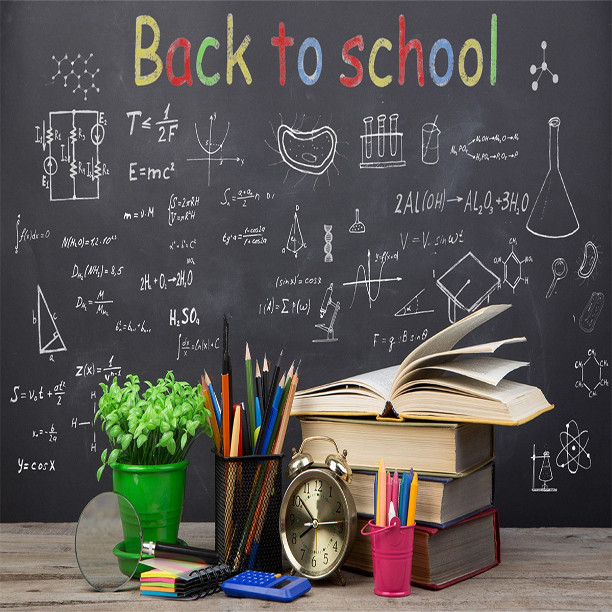 Back to School Black Board Book Backdrops for Students