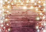 Light Snowflake Wood Wall Photography Backdrop for Christmas
