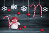 Drak Snowflake Wood Wall Photo Backdrop Christmas Background