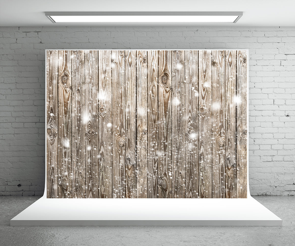 Snowflake Grey Wood Board Photography Backdrop for Christmas