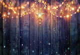 Light Star Wood Wall Photography Backdrop Christmas Background