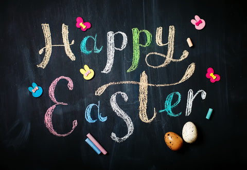 Blackboard Happy Easter Photography Backdrops Prop