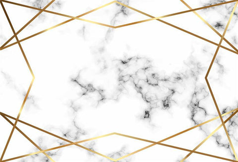 Grey Texture White Marble Gold Line Photo Studio Backdrop