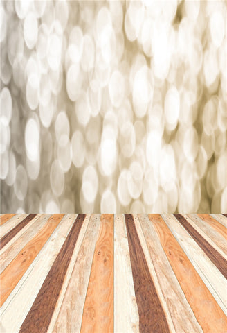 Bokeh Wood Floor Photography Backdrops for Studio
