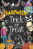 Black Treat or Trick Witch Halloween Backdrops