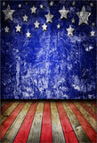 Wall Wooden Floor Independence Day Backdrop for Photography