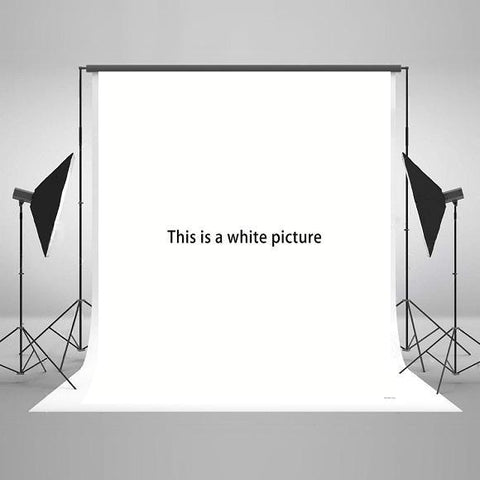 White Solid Color Microfiber Photo Backdrop for Studio