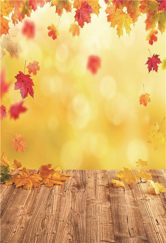 Shiny Fall Leaves Photography Backdrops for Photo Studio
