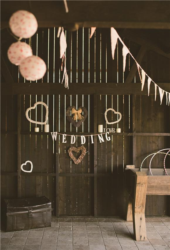 Vintage Bran Wedding Theme Photography Backdrops