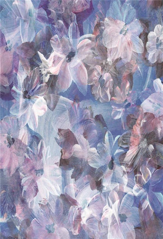 Purple Floral Abstract Portrait Baby Show Backdrop