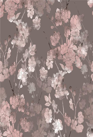 Pink Flowers Grey Abstract Backdrops