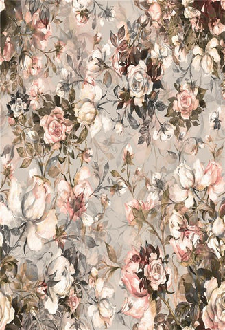 Abstract Floral Wall Photo Booth Backdrop for Studio