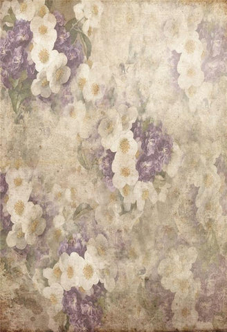 White Purple Flowers Abstract Backdrops for Picture