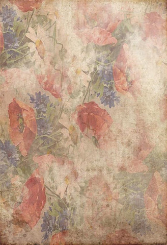 Red Floral Abstract Backdrops