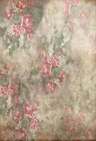 Abstract Pink Flowers Backdrops