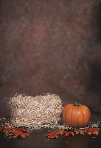 Mottled Texture Haystack Halloween Photo Backdrops