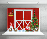 Santa Cluas Red Bran Winter Photo Backdrop for Studio