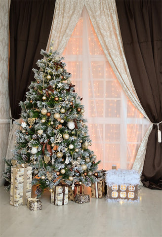 Christmas Curtain Backdrop for Photography Prop