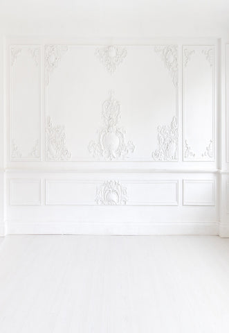 White Sculpture Wall Wedding for Studio Backdrops