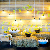 Bright Easter Straw Rabbit Flag Photo Booth Prop Backdrops