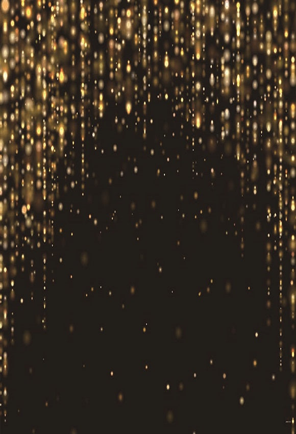 Black Gold Glitter Backdrops for Birthday Party