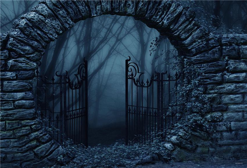 Gate of Hell Brick Halloween Photography Backdrops