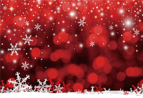 Red Christmas Snowflake Winter Backdrops