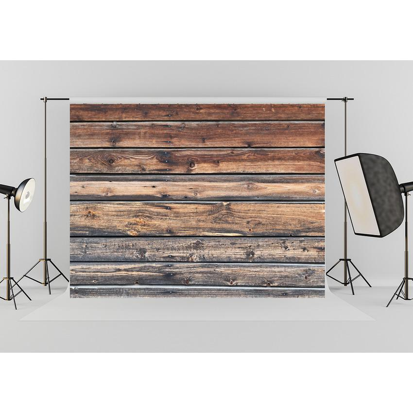 Dark Brown Moldy Wooden Floor Mat Photography Backdrop