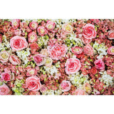 Printed Colorful Flaming flowers Backdrop For Photography
