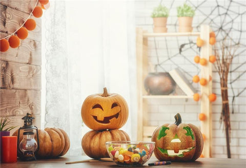 Pumpkin Halloween Photo Backdrop