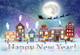 Happy New Year Snow Christmas Photo Backdrops