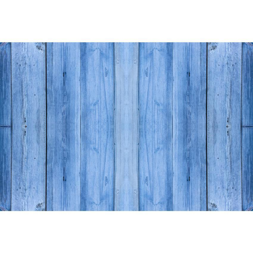 Blue Nature Wooden Floor Texture Backdrop for Photo Booth