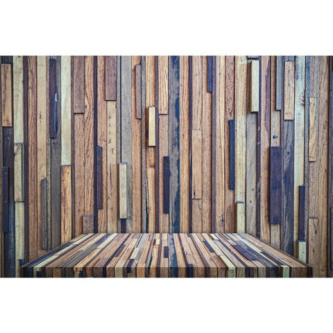 Senior Splicing Nature Wooden Floor Texture Backdrop for Photo Booth