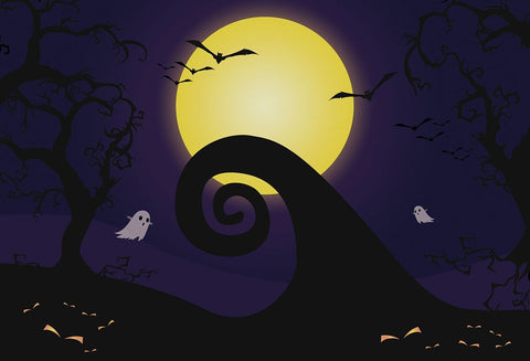 Nightmare Before Happy Halloween Backdrop