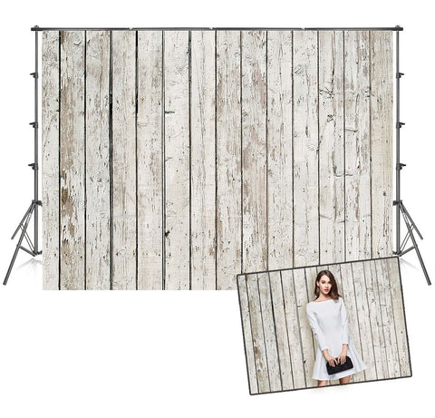 Vintage Wood Wall Beige Wooden Photo Studio Backdrops