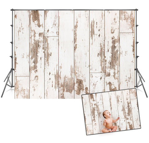 Wood Wall Baby Shower Banner Backdrops for Party