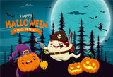 Cute Ghost Happy Halloween Backdrops
